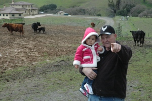Papa and Me with the cows!
